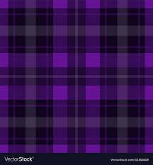 Seamless Purple Black Tartan White Stripes