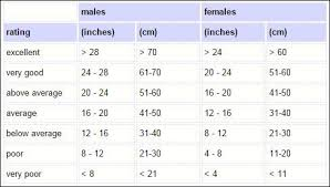 Sit And Reach Test Chart Ymca Fitness Testing And Assessment Ymca Sit And Reach Test