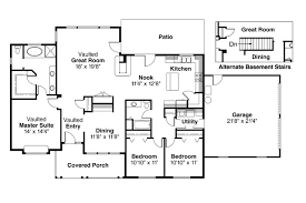 Kitchen Floor Plan Designer Ranch House Plans Alpine 30 043 Associated Designs