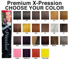 Hair Number Chart Xpression Hair Color Chart Bedowntowndaytona Com