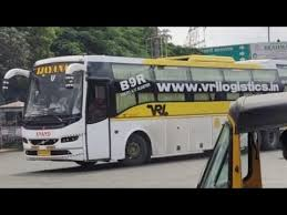 vrl travels volvo b9r sleeper taking