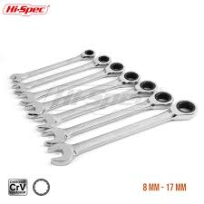 <b>Hi Spec 7pc Ratchet Combination</b> Wrench Set 8 10 12 13 15 17 ...