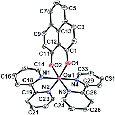 1 ortep diagram of the cationic part of 1 clo4·c6h6 ellipsoids are drawn at the 50 probability level hydrogen atoms and solvent molecules are omitted