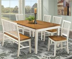 White Bench For Kitchen Table Intercon Arlington Dining Table With Slat Back Bench Slat Back
