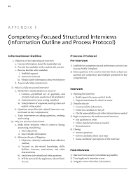 Appendix F Competency Focused Structured Interviews Information