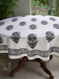 black and white tablecloth paisley tablecloth 90 round tablecloth 70 round tablecloths saffron marigold