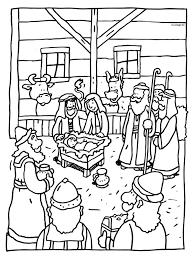 Kleurplaat Kerstmis Kindje Jezus Geboren Kleurplatennl
