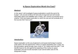 is space exploration worth the cost a level science marked by  document image preview