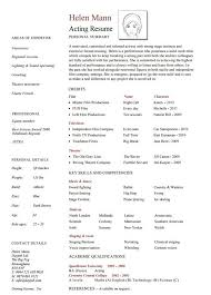 10+ Acting Resume Templates - Free Word, Pdf