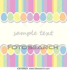 baby postcard clipart of baby postcard background with two lines of easter eggs