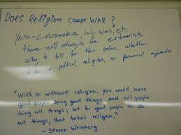 does religion cause war deathbywhiteboard the