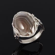 Купить <b>Кольцо агат серый</b> Ботсвана (<b>серебро</b> 925 пр.) размер 17 ...