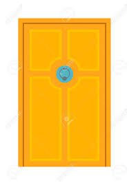open front door illustration. Fine Door Color Door Isolated On White Colorful Front To House And Building In  Flat Design Intended Open Front Door Illustration U