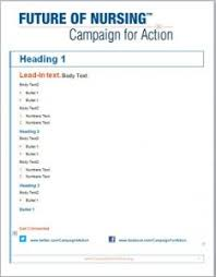 Campaign For Action Marketing Materials