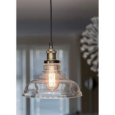 industrial pendant lighting. Glass Pendant Light With Vintage Edison Bulb - Fixture, Single Chandelier Industrial Lighting