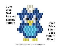 Brick Stitch Patterns Enchanting Cute Blue Owl Earrings Brick Stitch Bead Pattern YouTube
