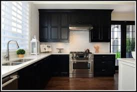 White Subway Tile Backsplash With Dark Cabinets