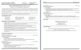 Health Information Consultant Free Sample Resume Vinodomia