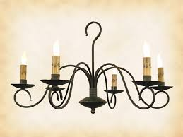 image of wrought iron chandeliers with shades