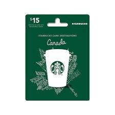 starbucks canada gift card 15