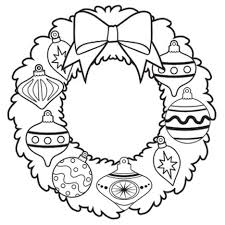 Small Picture Christmas Wreath Coloring Page Part 6 Free Resource For Teaching