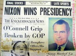 Image result for nixon elected president