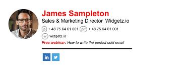 Email Signature Design The Perfect Sales Email Signature Business 2 Community