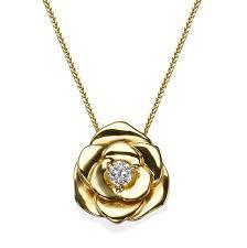 14k yellow gold pendant flower pendant