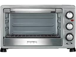 rosewill 6 slice convection toaster oven countertop stainless steel large capacity for 12 inch