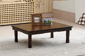 2018 antiquekorean folding table rectangle 80 60cm coffee color asian living room furniture tea table for dining traditional korean folding table from