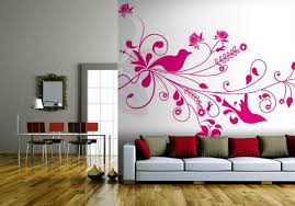 Hot Pink Roses Wallpaper Murals Design in Small Living Room Roses Flowers  Wallpapers Design for your Home Wall Decoration