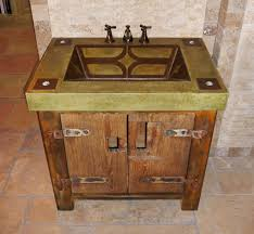 Concrete Sink Diy Custom Made Vanity With Rustic Base And Integral Concrete Sink By