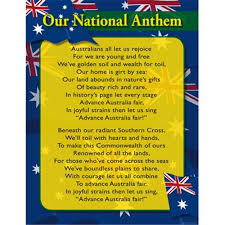 Anthem Chart Chart Australian National Anthem
