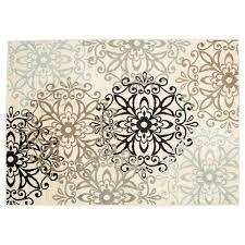 hometrends craydon tan and grey area rug image 1 of 3