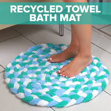 Braid Old Towels Together To Create This Sophisticated Bath Mat