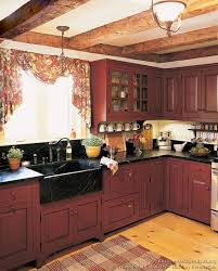 red country kitchen decorating ideas. Interesting Decorating Early American Kitchens Pictures And Design Themes For Red Country Kitchen Decorating Ideas