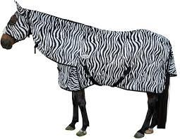 zebra mesh attached hood rug