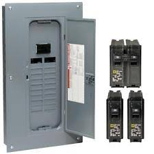 electrical circuit breakers fuse boxes indoor main plug on neutral breaker load center 100 amp 20 space 40 circuit new