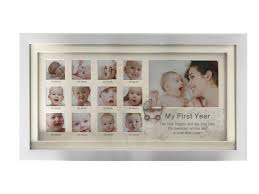 baby first year picture frame