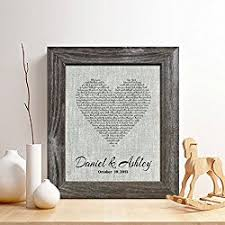 4th wedding anniversary gift ideas personalized 4th anniversary linen print
