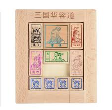 Wooden Path Game Classic Wooden Chinese Traditional Puzzle Game Toy Three Kingdom 77