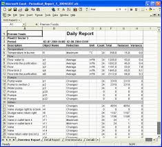 Standard Reports Generated To Microsoft Excel