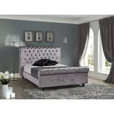 upholstered sleigh beds. Stella Upholstered Sleigh Bed Beds