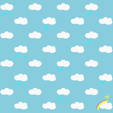 Free Printable Rainy Clouds And Rainbow Pattern Paper Free