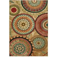 mohawk home forest suzani toast 8 ft x 10 ft area rug