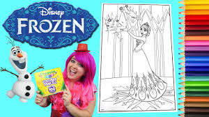 These disney coloring sheets will allow your kids to express their creativity and they're a great quiet time idea. Coloring Queen Elsa Disney Frozen Giant Coloring Book Page Crayola Colored Pencil Kimmi The Clown Youtube