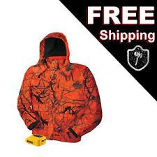 Details About Dewalt Heated Work Hunting Jacket Large Blaze Orange Camo Hooded Dchj063b Usb