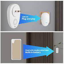 KERUI akıllı kapı zili ev güvenlik karşılama kablosuz kapı zili 57 Chime  100m uzaktan kumanda ab ABD BİRLEŞİK KRALLIK fiş kablosuz düğme kapı zili -  diğer > Pazarlik-Teklif.cam