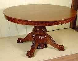 round clawfoot table round table table legs antique claw foot dining table and chairs