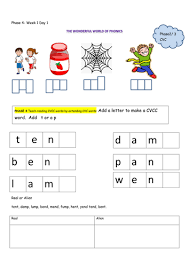 These free worksheets help your kids learn to define sounds from letters to make words. Phase 4 Phonics Resources Teaching Resources